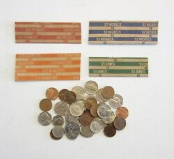 4000 Coin Wrappers Mixed   1000 Each Of Quarter Dime Nickle And Penny Wrappers