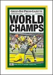 Green Bay Packers 11 Super Bowl 1, 2, 31, 45 Matted Multi Image Photo Collages