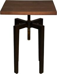 33 T Set Of 2 Side Table Modern Industrial Metal Hand Crafted Solid Walnut