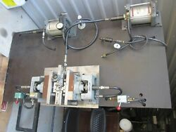 Heinrich Model 77 Pneumatic Air Vise And Steel Base/mounting Plate