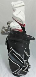 NEW TaylorMade Golf Complete Set Driver Wood Hybrid Irons Putter Cart Bag Stiff