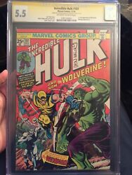 🔥Incredible Hulk #181 CGC 5.5 SS x 2 1st Wolverine STAN LEE SIGNED