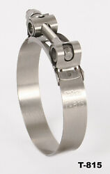 Stainless Steel T-bolt Clamps Sizes Range From 1 1/16 /27mm To 8.96/214m