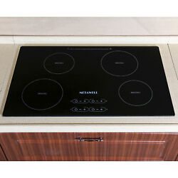 METAWELL 31.5'' Induction Hob 4 Zone Electric Hot Plate 240-208V AC, 60HZ.