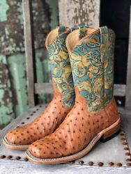 Anderson Bean Womenand039s Cognac Mad Dog And Teal Havanna Square Toe Boots 321804