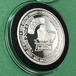 Armstrong Gold Nugget Miners Jubilee 1 Troy Oz .999 Fine Silver Proof Coin Round