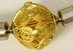 22k Yellow Gold Etruscan Style Interchangeable Clasp
