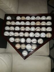 47 Autographed Baseballs AND $500 Home Plate UV Protective Case! Hall of Famers!
