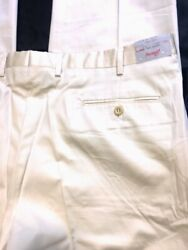 BRIONI PANTS LT TAN BRUSH COTTON 5-PKT FF HANDMADE CANNES SUMMER SLACK 42 58 NE