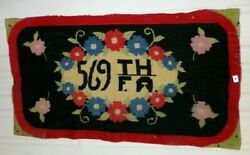 Ww 2 Handmade 569th F.a. Field Artillery Cross Stitched Needle Point Sampler Old