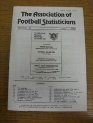 May-1985 The Association Of Football Statisticians Report No.42 - Contents Incl
