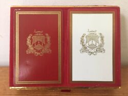 Vintage Congress 606 Celutone National War College 2 Deck Playing Cards In Box