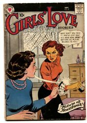 Girls' Love Stories 57 Comic Book 1958- Dc Romance- Fight Cover