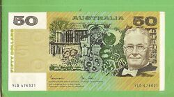 D488. 1983 Type Uncirculated Johnston / Stone Paper 50 Banknote Yld 476021