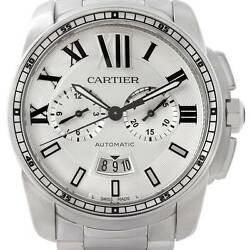 Calibre De Cartier Steel Chronograph Mens Watch W7100045