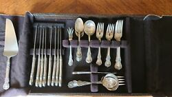 Old Master Towle Sterling Silver Flatware 55 Pc Set Eight 5-piece Settings Extra