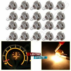 20X Warm White T4T4.2 Neo Wedge AC Climate Heater Control Base Light Bulbs 10mm