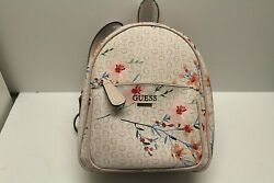 Guess Backpack Signature beige with floral design Small NWOT but has Swiftach