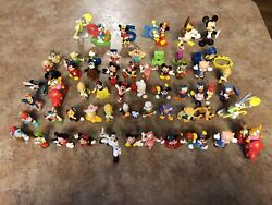 """Lot Of 60 Misc Disney Toys/action Figures2""""-3""""1980's 1990'sguc"""