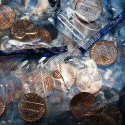 1983 P+d Lincoln Penny Roll In Mint Cellophane From Original Souvenir Mint Set