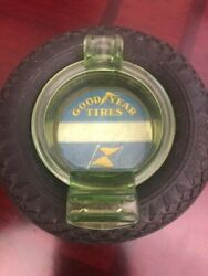 Good Year Tire Ashtray With Matchbook Holder