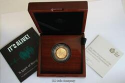 2018 Mary Shelleys Frankenstein £2 Solid 22 Carat Gold Proof Royal Mint Coin