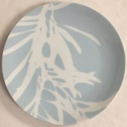 Crate And Barrel Sky Blue And White Tree Branch Lunch Or Salad Plate Euc 8 1/8 Dia.