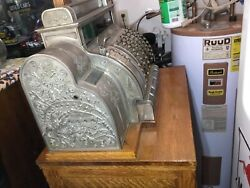 Beautiful Vintage Large Nickel Cash Register - This Is Heavy But Gorgeous
