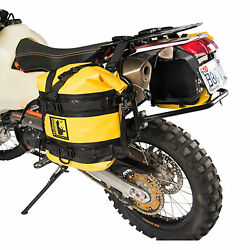 Tusk Pannier Racks with Wolfman Expedition Dry Saddle Bags Yellow - Fits: