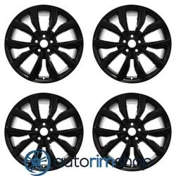 New 19 Replacement Wheels Rims For Ford Escape 2017 2018 Set Black