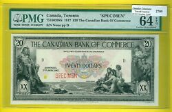 Canadian-notebank Of Commerce 20 Dollars 1917 Issue.est1900