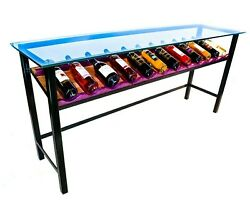 Custom Cherry And Purple Heart Wood Wine Table Display By Dave Crider Designs