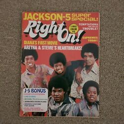 Vintage Right On Magazine First Premiere Issue 1 October 1971 Michael Jackson 5