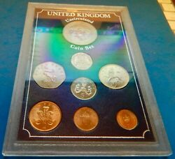 United Kingdom 1976-1983 Uncirculated Mixed Coin Set In Hard Display Case