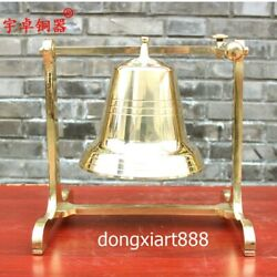 30.5 Cm Chinese Pure Copper Brass Mechanical Shelf Shout Tinkle Swing Hang Bell