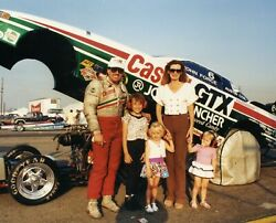 John Force With Daughters 8x10 Glossy Photo Picture Image 2