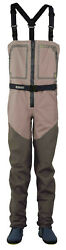 Hodgman Aesis Sonic Zip Front Stocking Foot Breathable Fly Fishing Chest Waders
