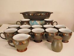 Set Of 15 Denby Marrakesh Cups Mugs Oval Baker Dish Stoneware More Discontinued