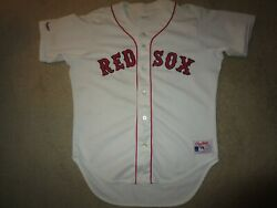 Boston Red Sox 37 Mlb Rawlings Game Issued Baseball Jersey 46