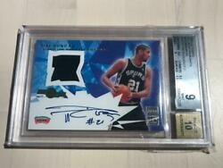 2001-02 Topps Tim Duncan All-Star Remnants Auto Jersey #13/21 BGS 9 SSP