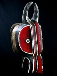 Art African First - Antique And Authentic Mask Baoulandeacute Goli Glin - 66 Cms