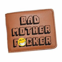 Bad Mother F*cker Wallet Leather Brown Embroidered Mens F**ker Mofo Movie Gift $15.09