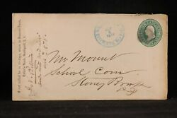 New York Northport 1878 3c Entire Cover, Blue Suffolk County Cancel