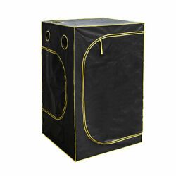 Hydroponic Water-Resistant Grow Tent with Removable Floor Tray Black USA Stock
