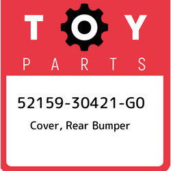 52159-30421-g0 Toyota Cover Rear Bumper 5215930421g0 New Genuine Oem Part