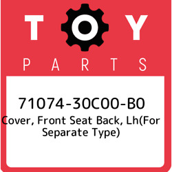 71074-30c00-b0 Toyota Cover Front Seat Back Lhfor Separate Type 7107430c00b0