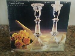The American Crystal Collection 8quot; Candlestick Set Of 2