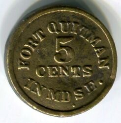 Texas Ft. Quitman - 1871 Moore And Sweet 5c Shell Token