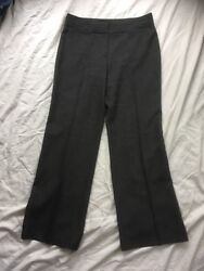 Mands Marks Spencer 12 Mid Grey Wide Leg Work Wear Trousers Used Vgc