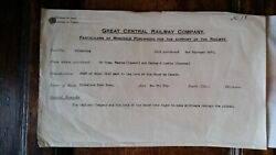 1873 Deed And Map - Great Central Railway Silkstone - Manchester Sheffield Line